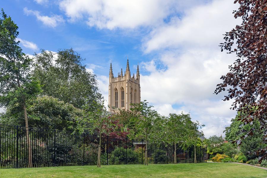 Abbey Gardens in Bury St Edmunds, Suffolk.
