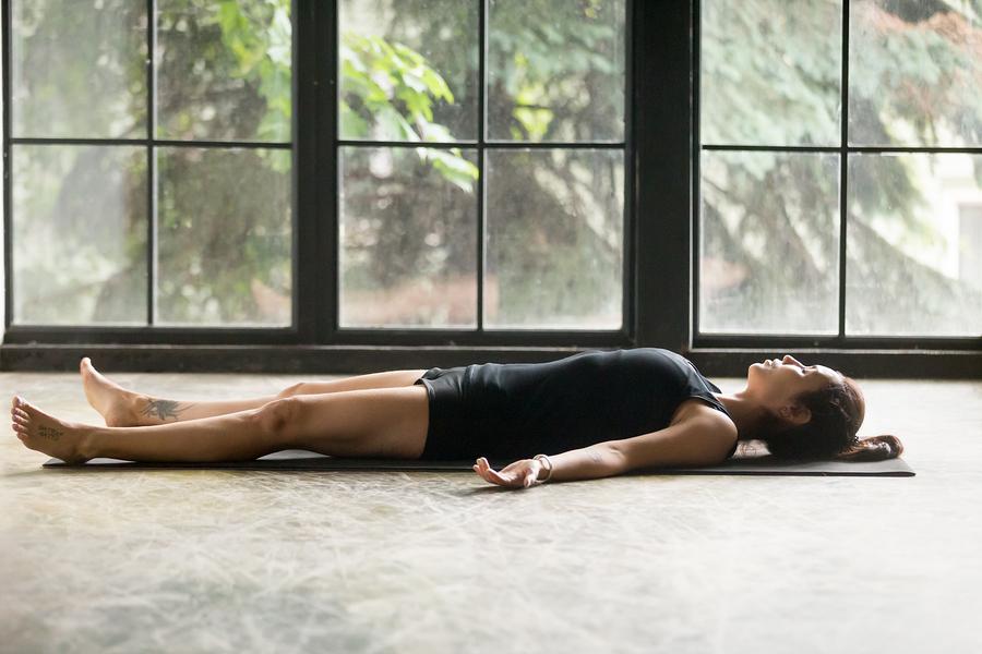 Yoga Nidra Savasana pose